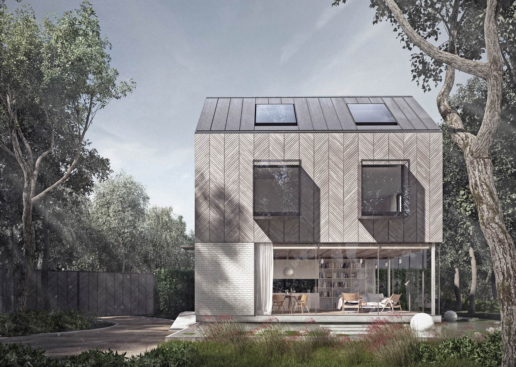 Architect designed country house in the woods in essex