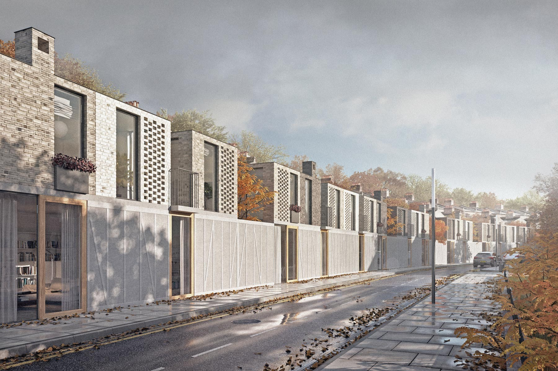 Hackney architects: housing terrace designed in east london