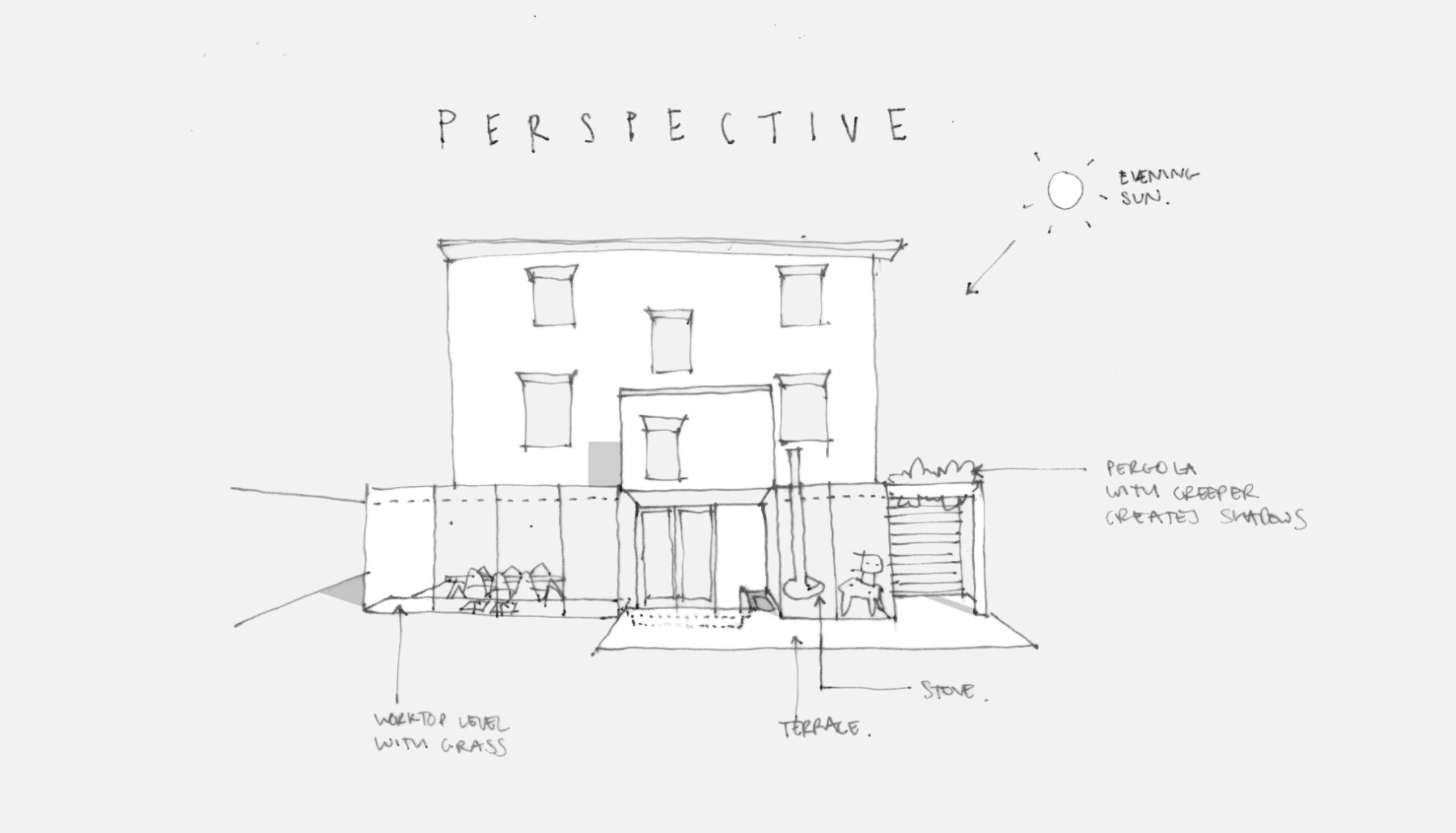 Dartmouth park house extension: sketch