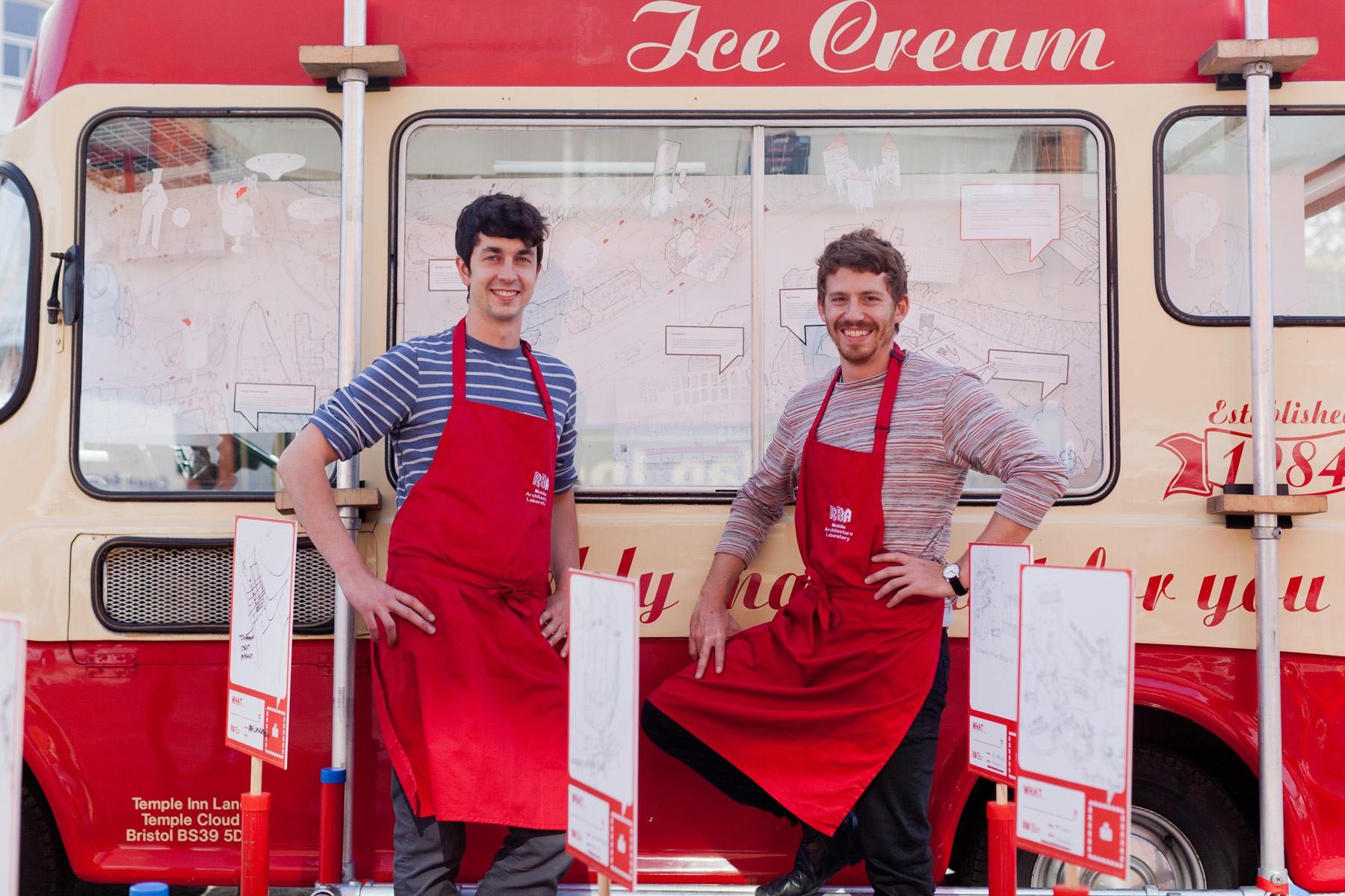 Architect ice cream van