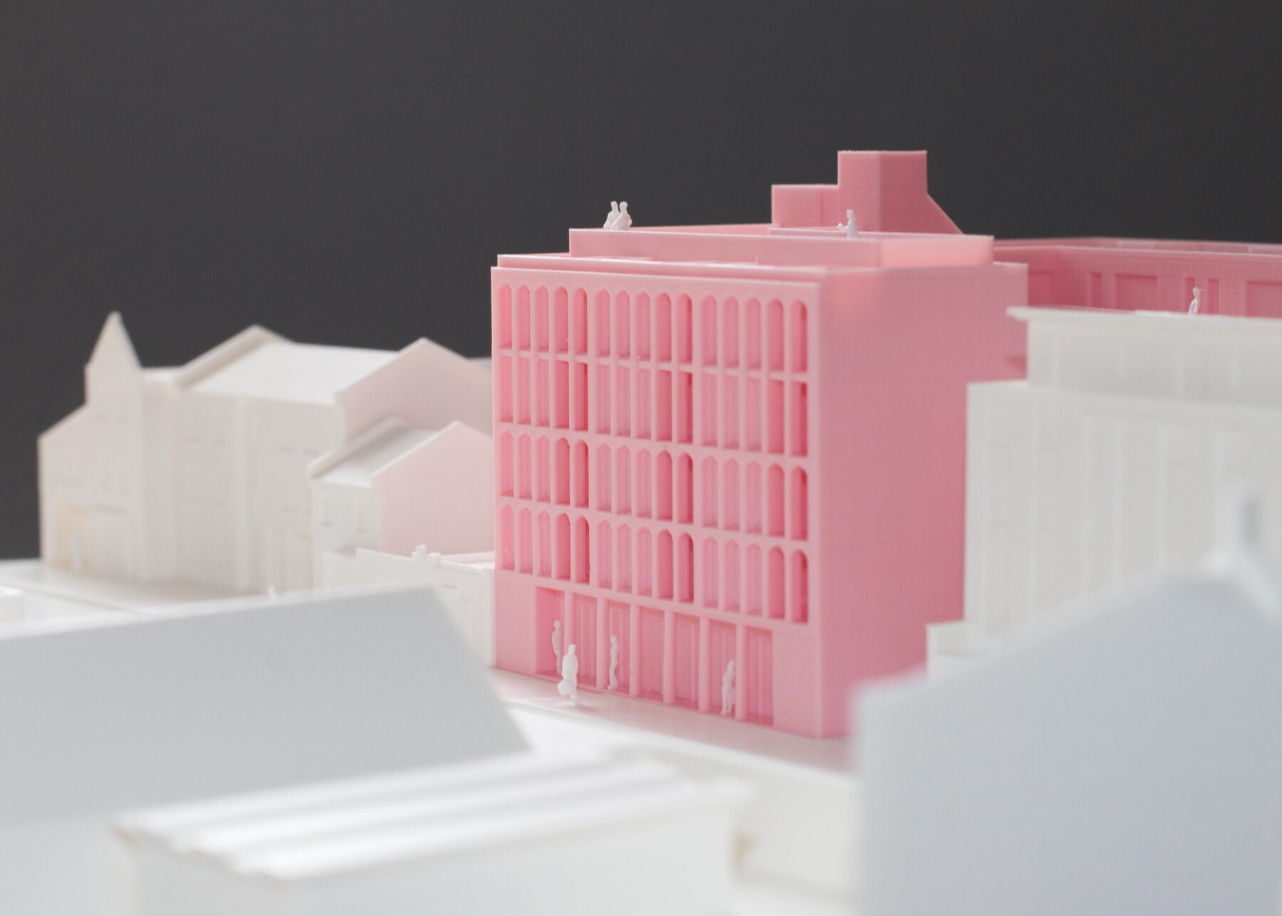 Wood Street, Walthamstow housing model by Architecture for London