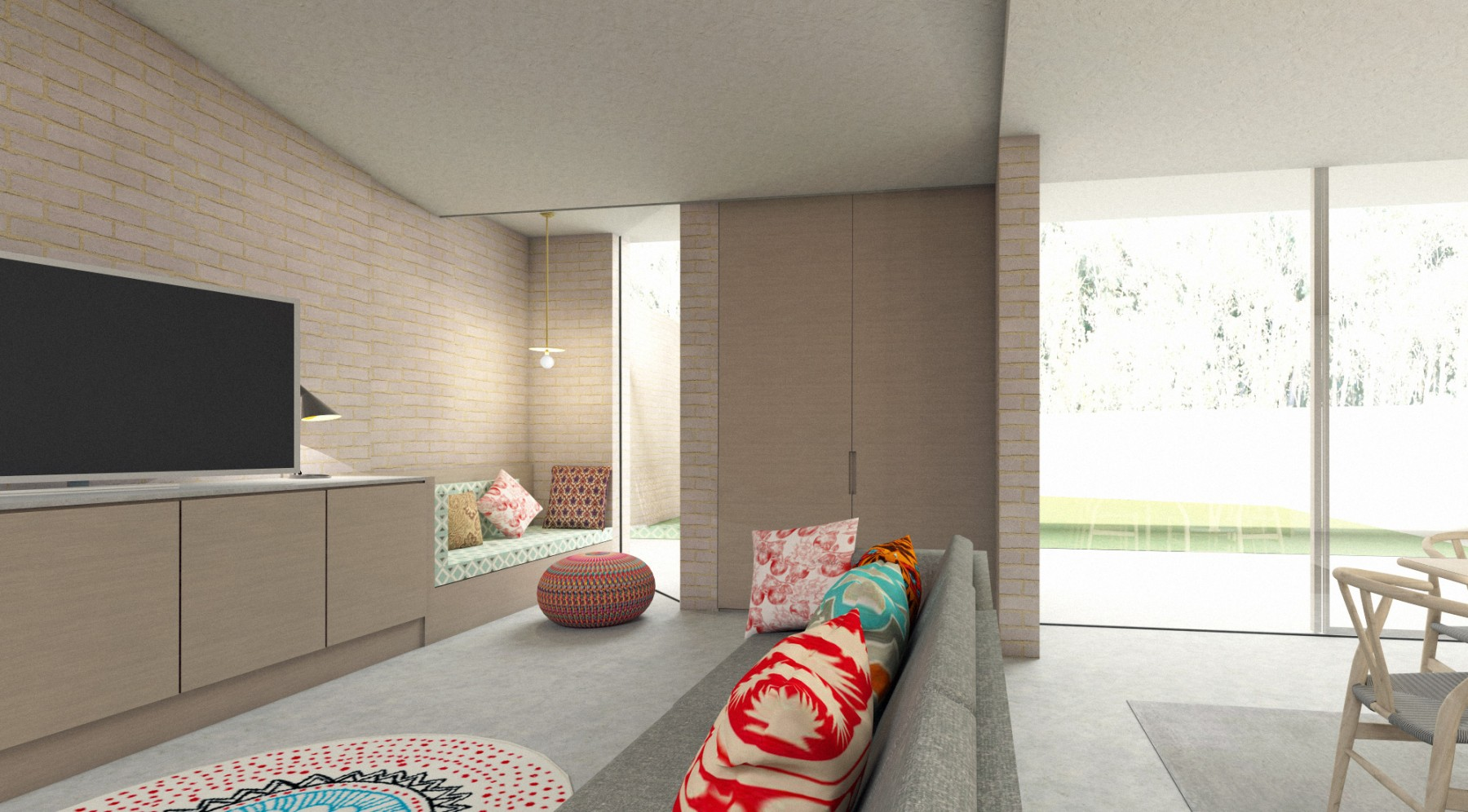 Canonbury house extension in brick London: interior