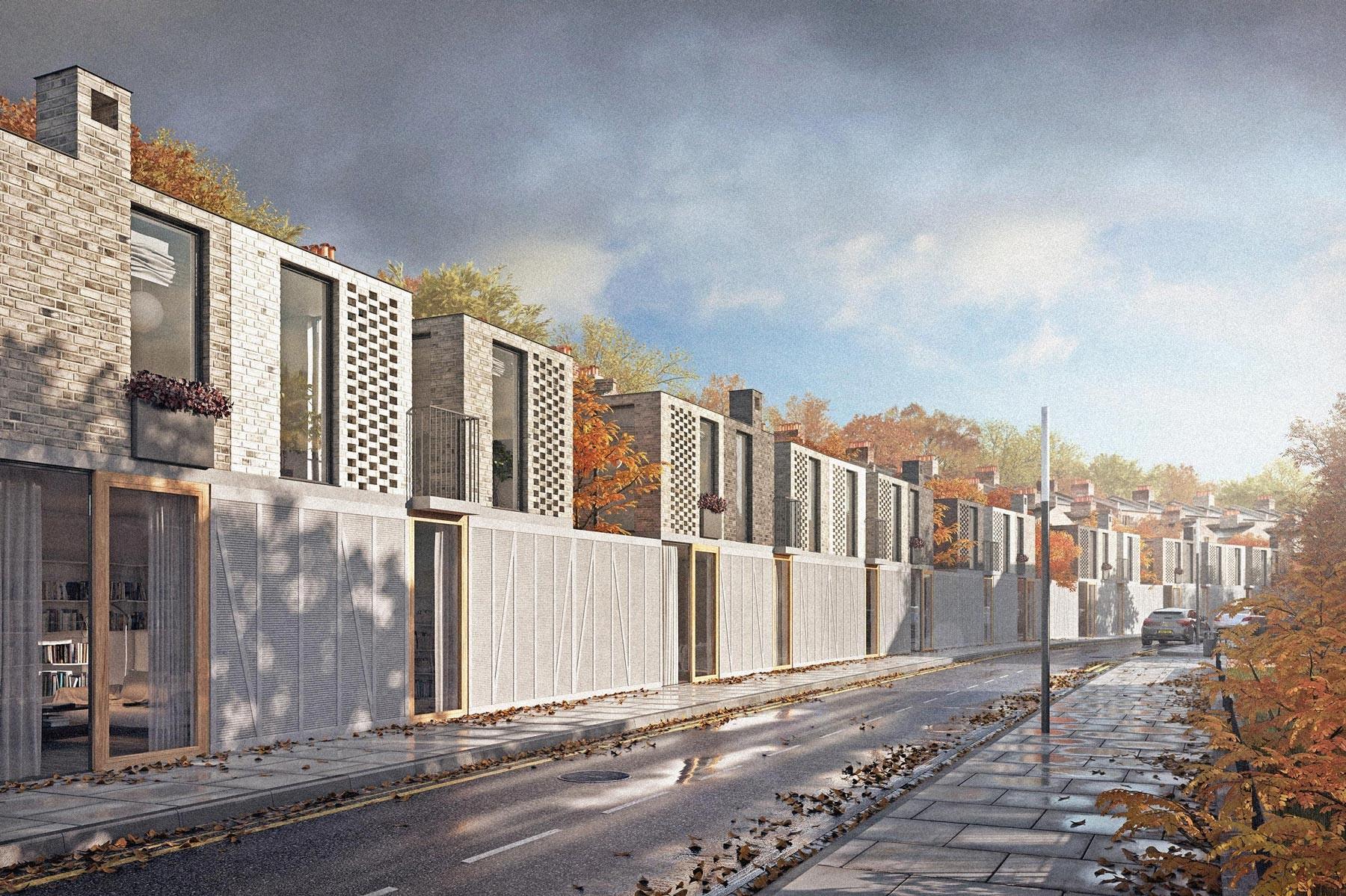 Hackney architects: housing terrace designed in east london