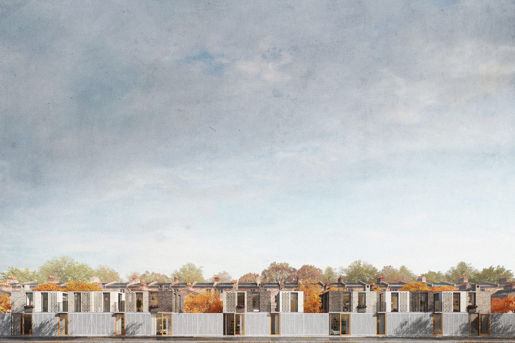 architect designed terrace housing in Hackney, east london