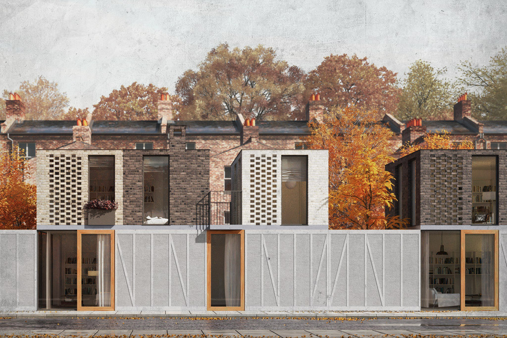 Hackney housing terrace design by Architecture for London