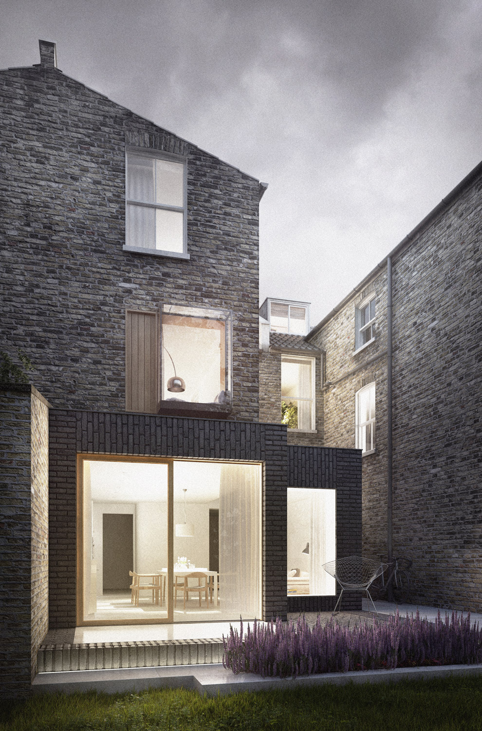 Kensington house extension: architect designed victorian house refurbishment