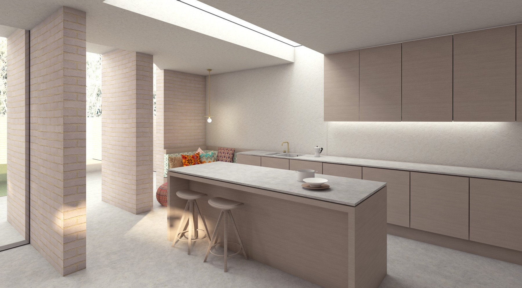 Architect designed canonbury house extension: kitchen