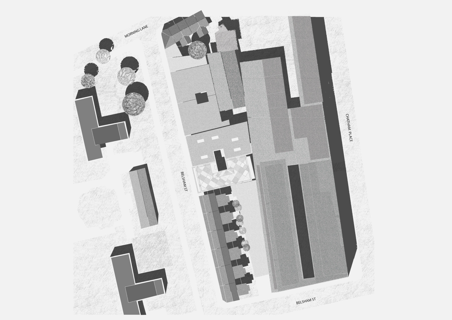 Hackney housing by Architecture for London - site plan