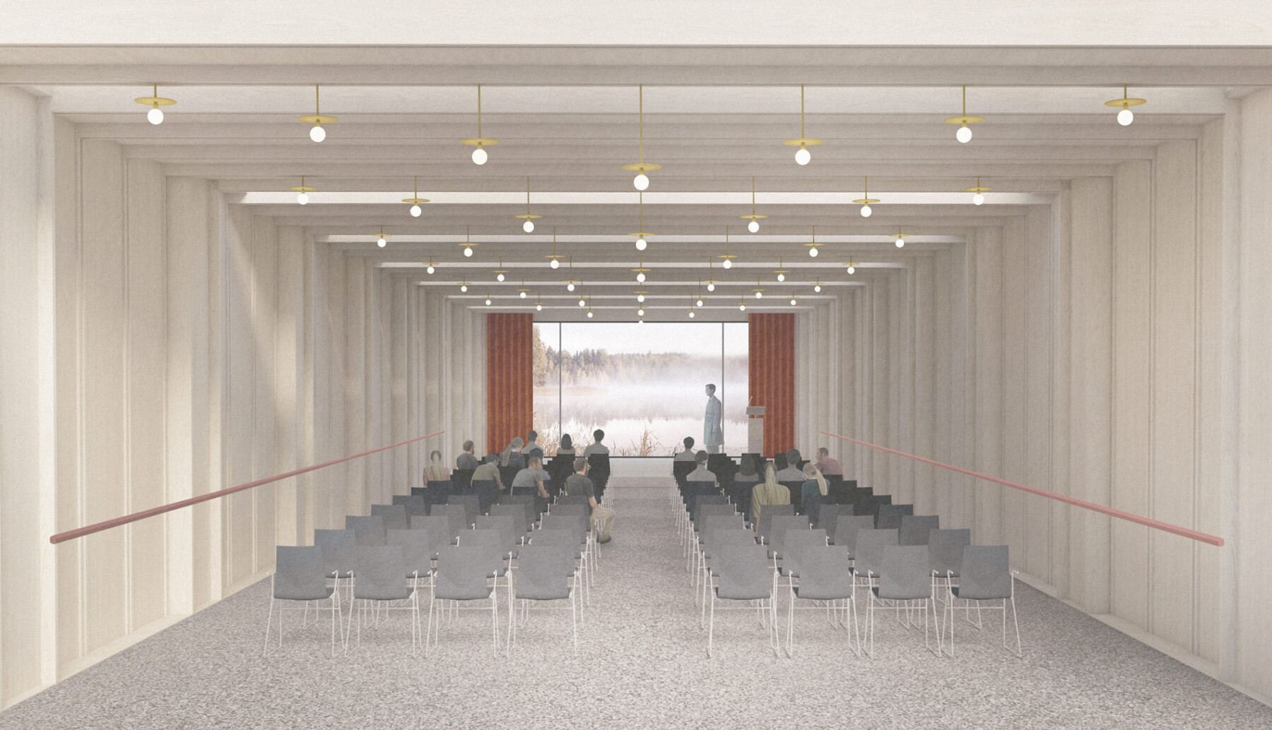 Kent architect wildlife centre - lecture hall interior