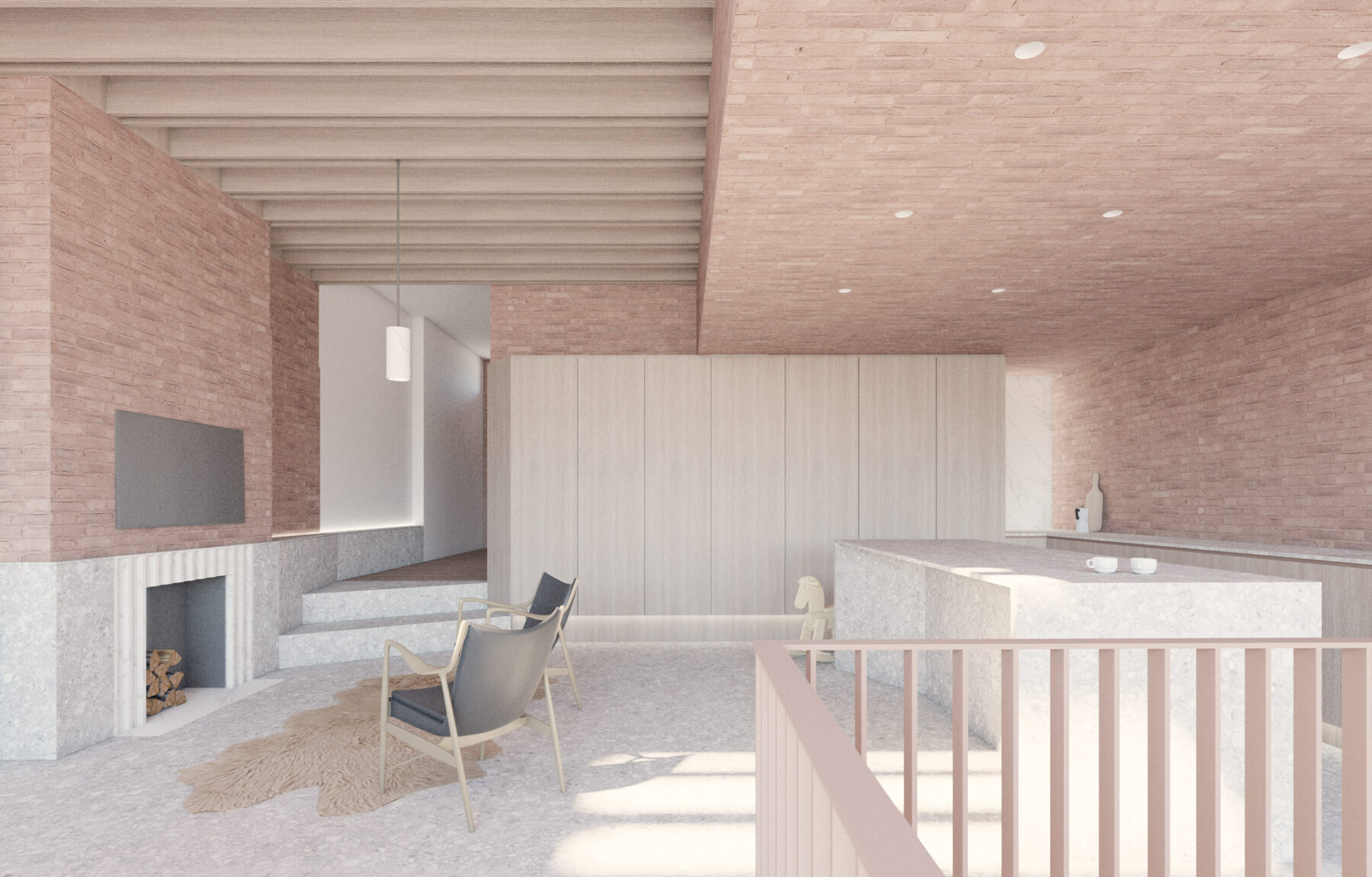Highgate basement extension in brick by Architecture for London in Highgate