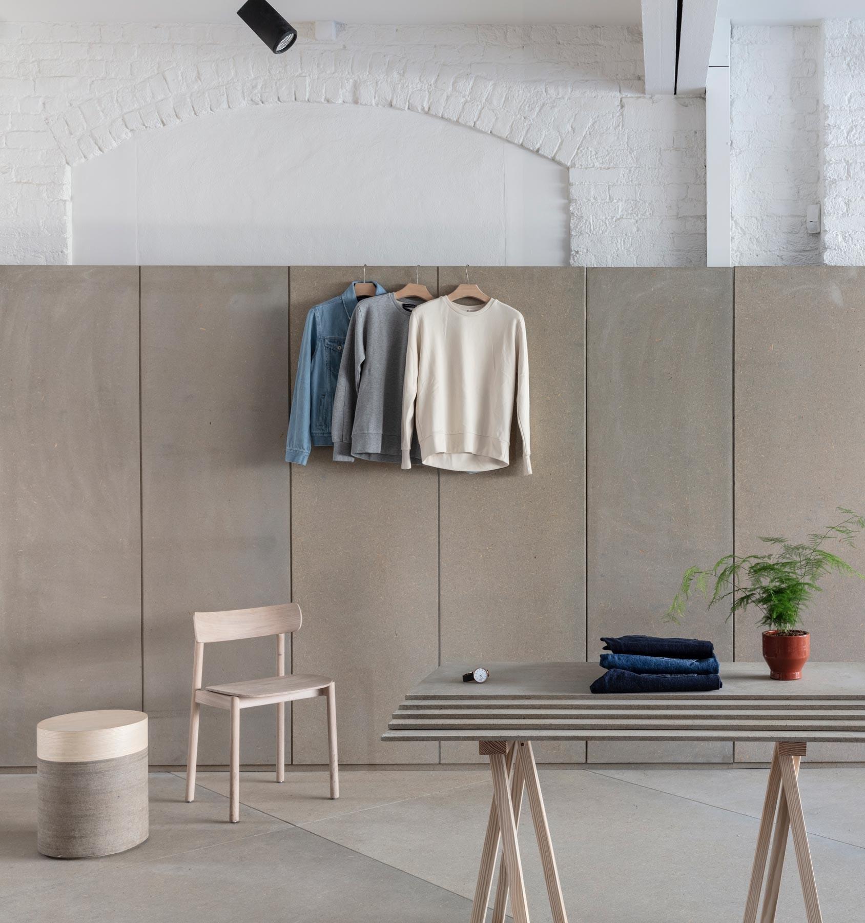 Concrete studio retail interior design