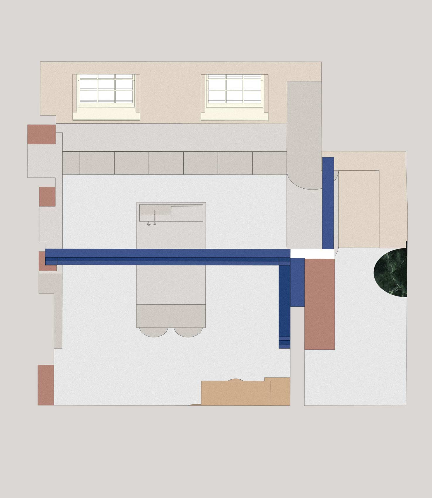 architect designed house drawing in plan