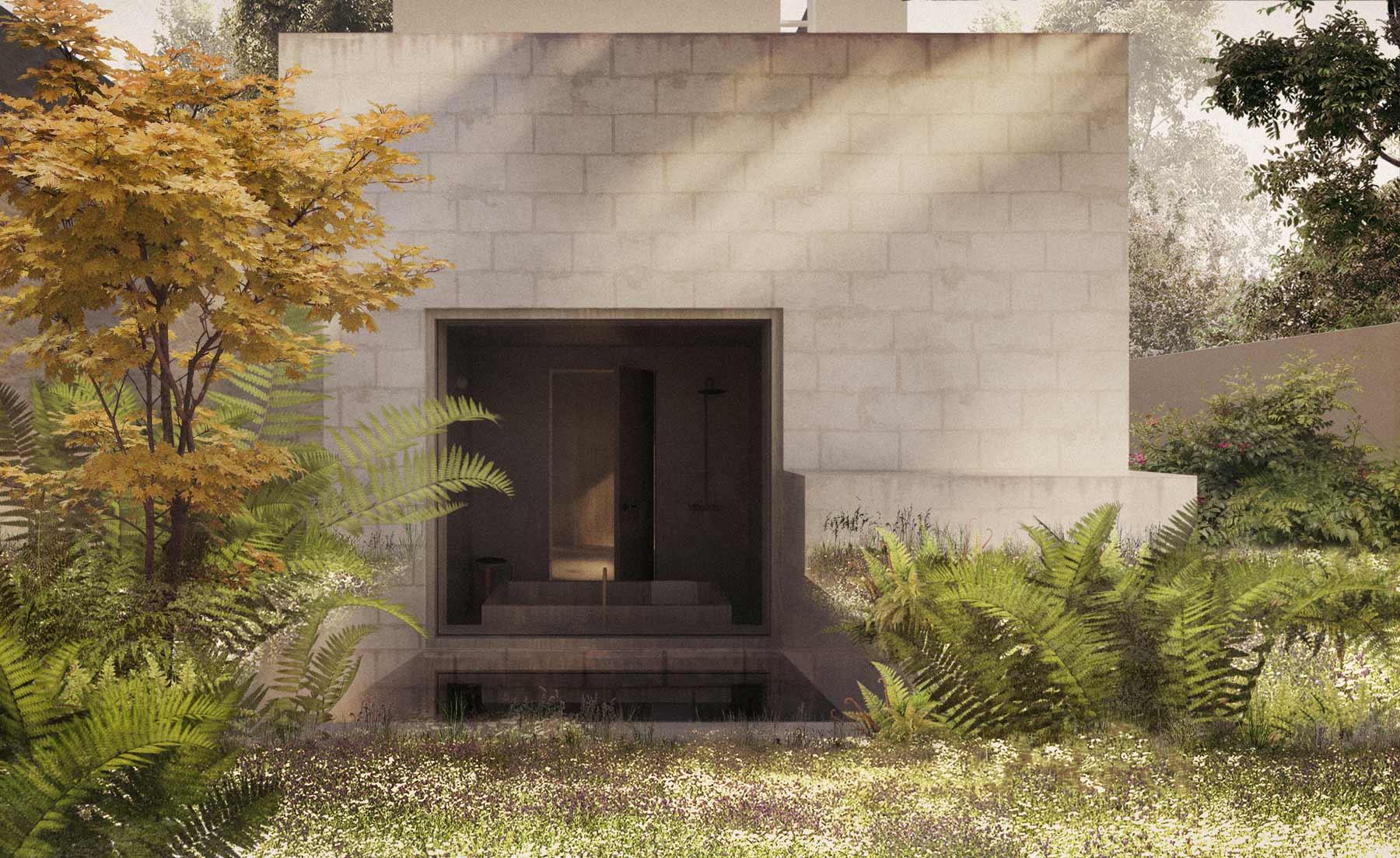 architect house extension concrete