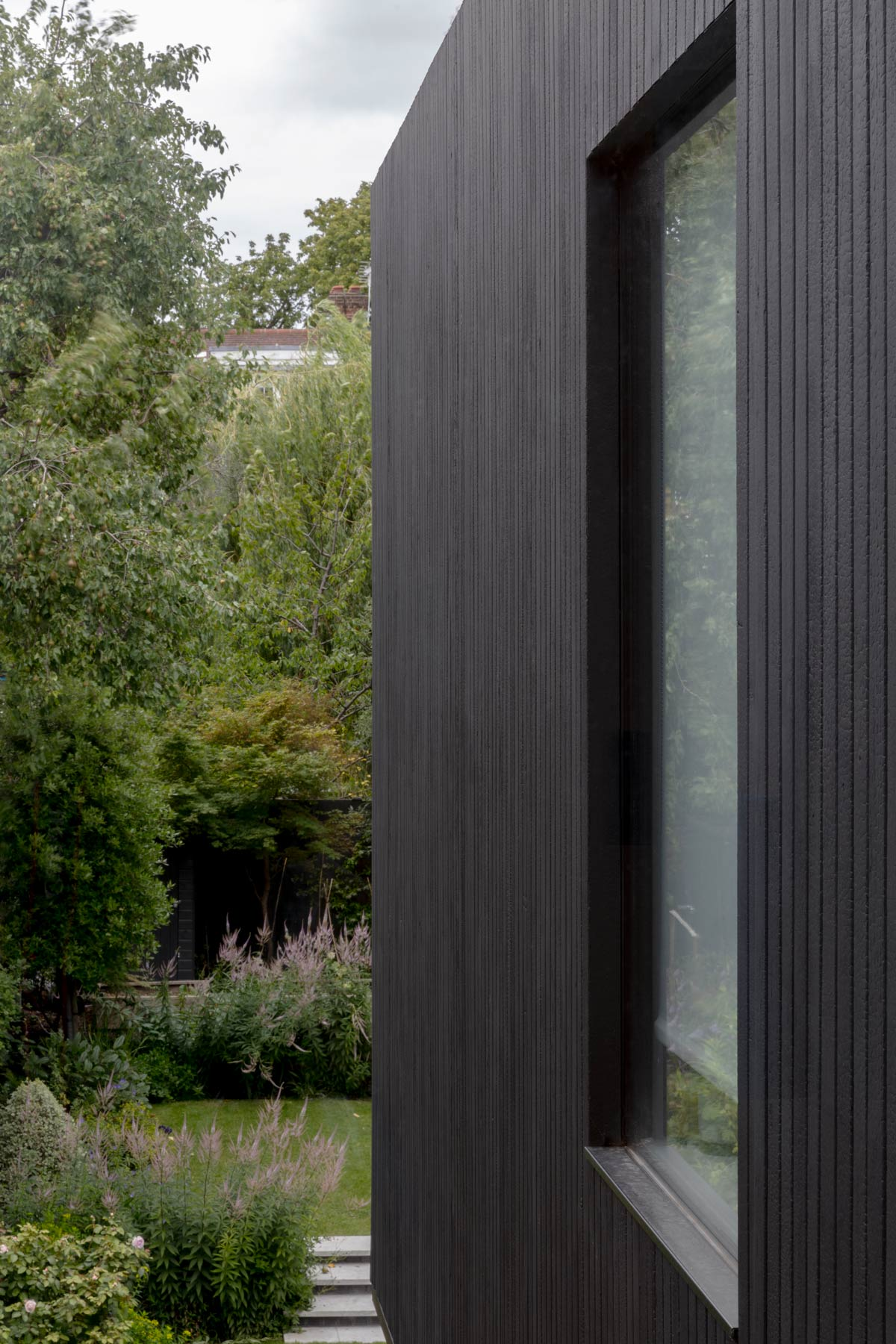 charred timber Queens Park house extension