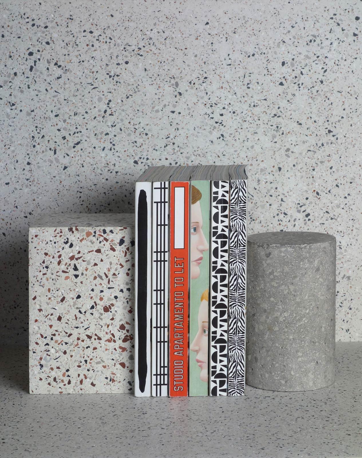 terrazzo bookend design
