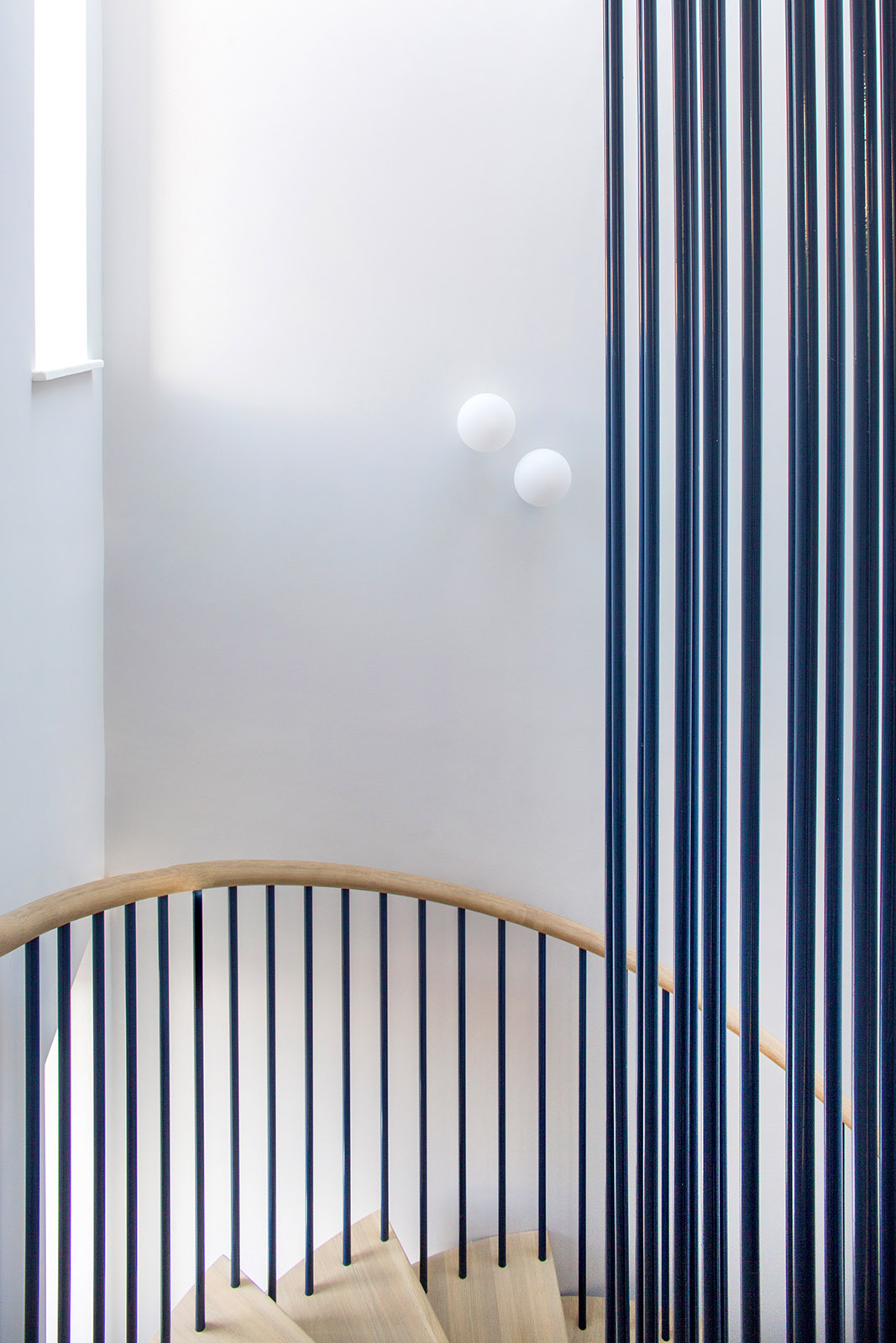 Architect designed staircase in London house, kensington