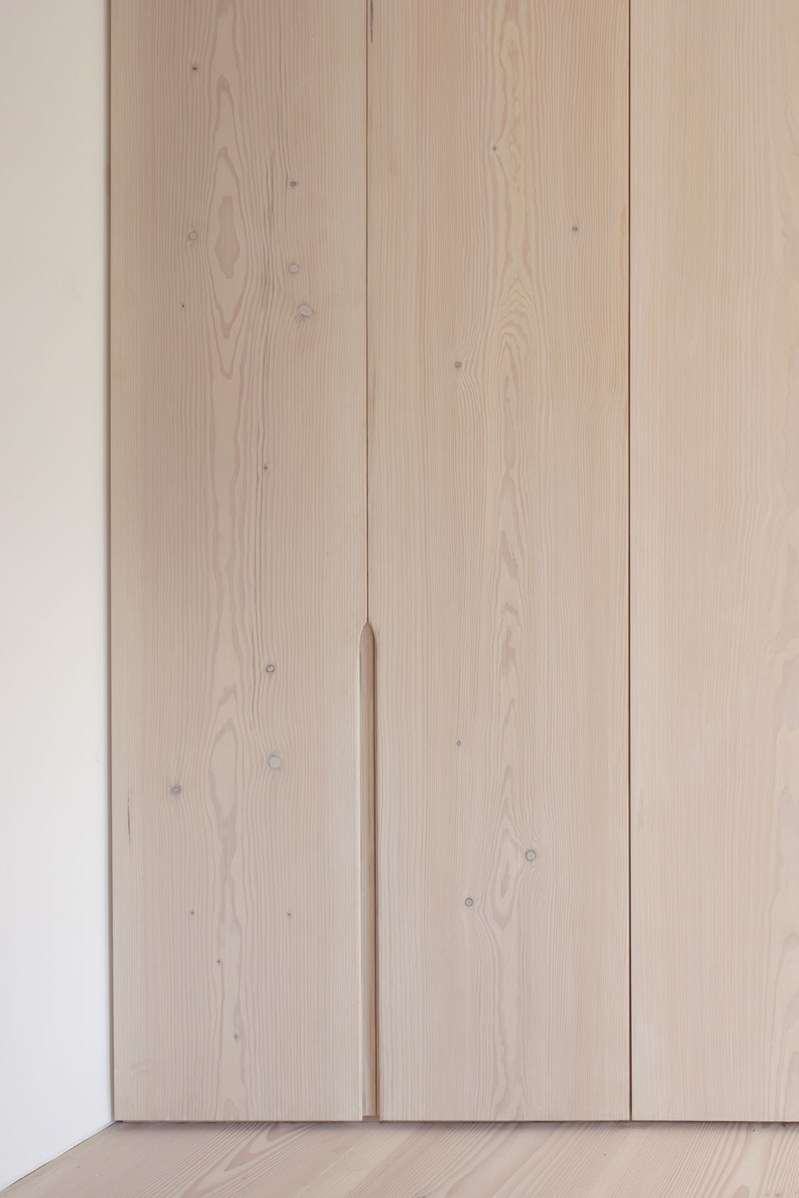 architect designed bedroom cupboards timber