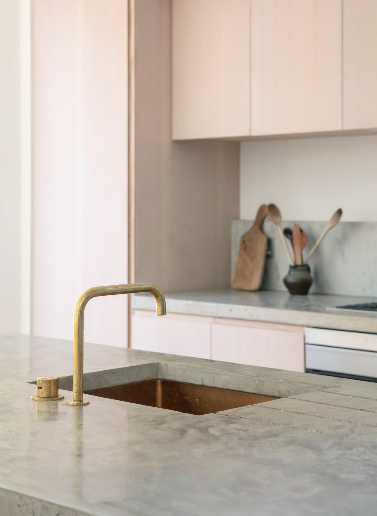 architect designed kitchen polished concrete