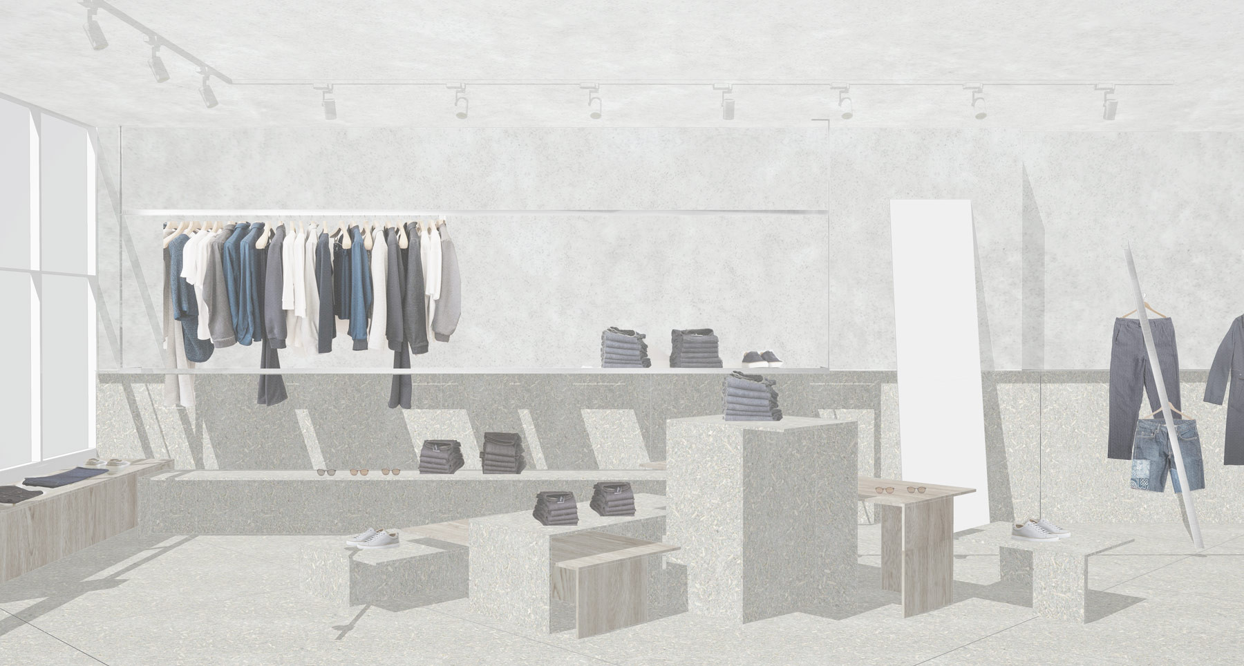 Soho meanswear shop fitout