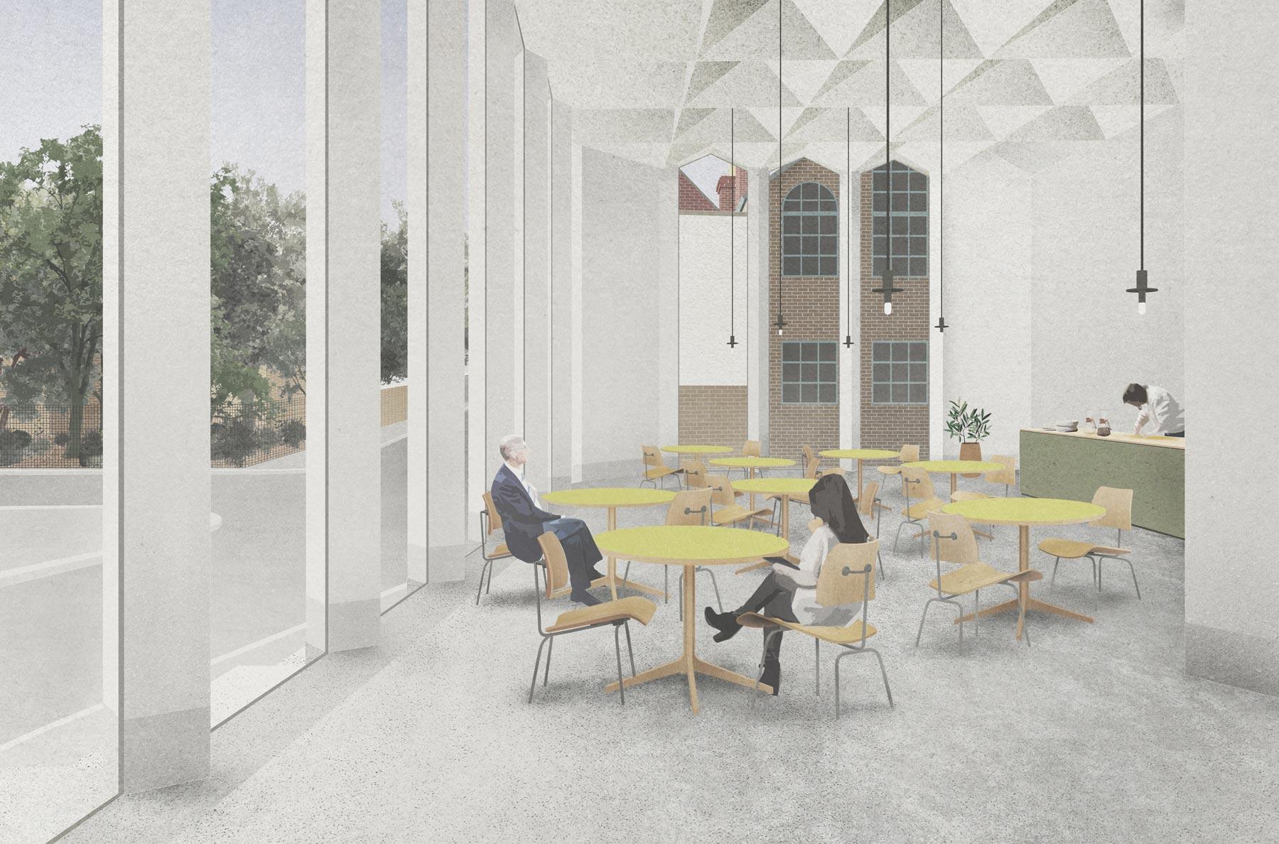 Southwark architect cafe interior design