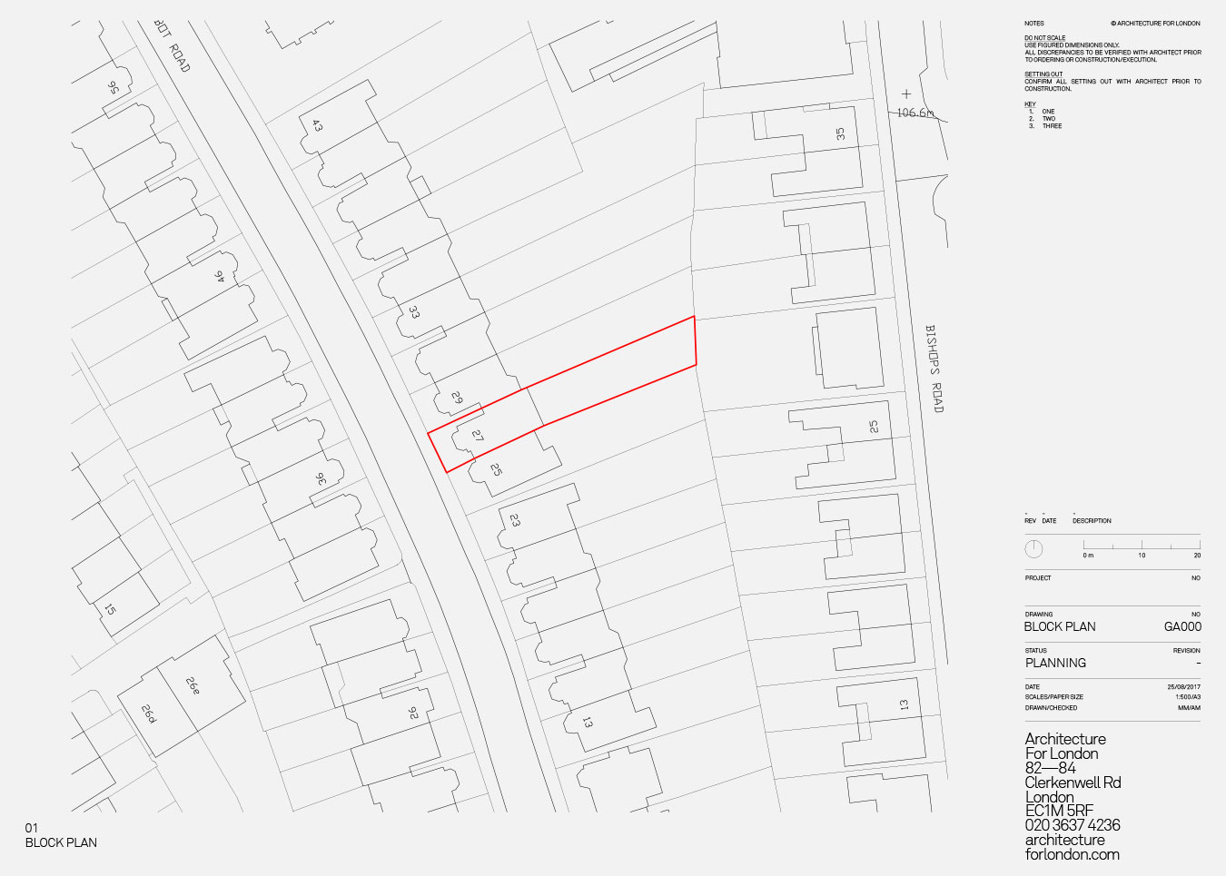 planning application block plan