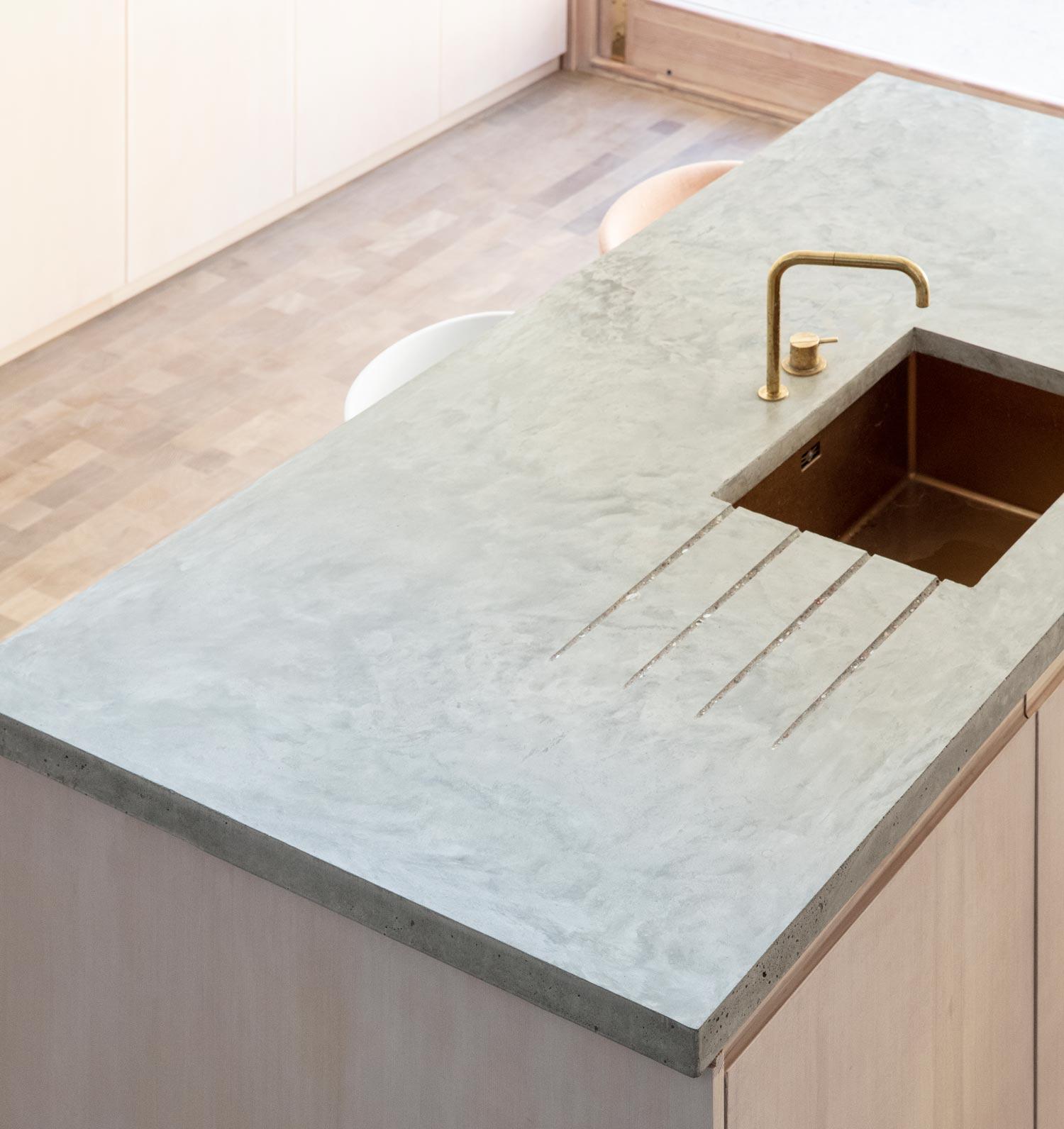 kitchen extensions london - concrete worktops